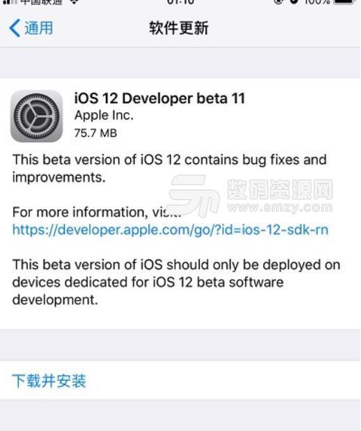 苹果ios12beta11预览版描述文件