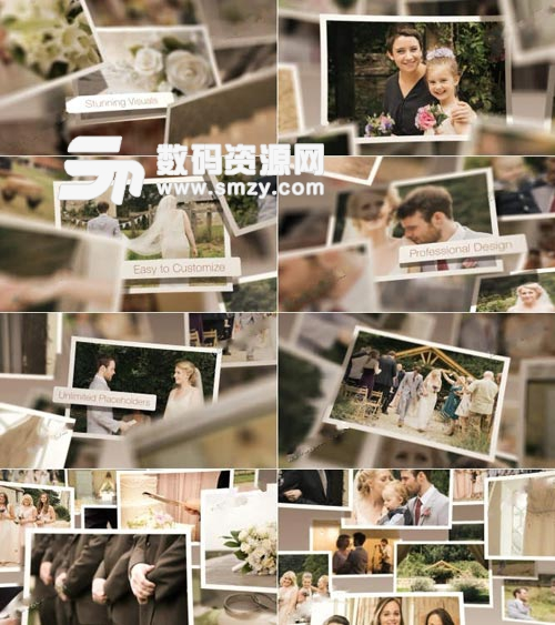 温馨家庭婚礼纪念相册AE模板下载