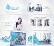 蓝色淡雅公司团队人员业务介绍栏目包装AE模板