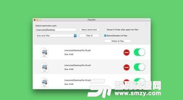 FilterPDF Mac版