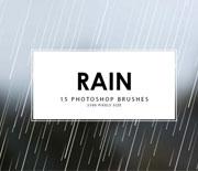Photoshop下雨雨丝笔刷