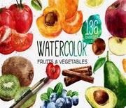 色彩鲜艳的蔬菜水果美食电视包装AE模板