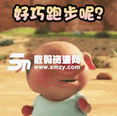 抖音奔跑的小猪动动态表情包(帮助你撒娇卖萌) 无水印版图片