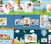可爱动物王国宝宝生日相册AE模板