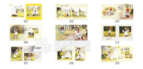 【儿童摄影模板 森林公主】-整套JPG预览图