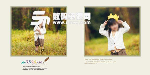 儿童摄影模板 森林公主 06
