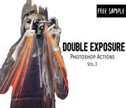 人像照片双重曝光效果PS处理动作