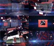 科技三维立体屏幕展示AE片头模板