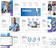 简洁干净的公司企业宣传介绍栏目包装AE模板