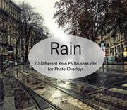 免费photoshop下雨雨丝笔刷