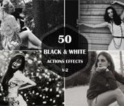 经典人物肖像照片黑白调色动作