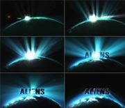 闪耀的地球空间电影标志开场AE源文件