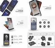 iPhoneX华为P20手机APP介绍AE模板