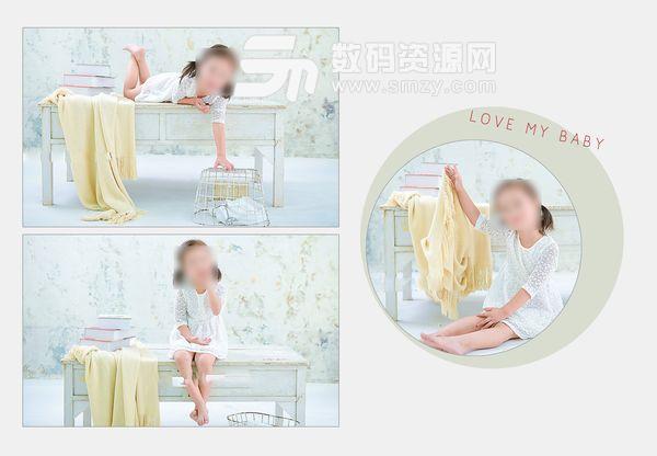 儿童相册模板 顽皮宝宝 01