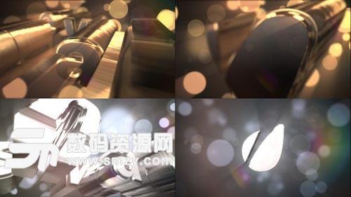 三维立体金属文字动画LOGO片头模板下载