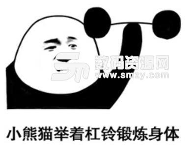 熊猫头假耳朵表情包高清版(熊猫人摘下了耳机) 无水印版图片