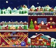 卡通创意圣诞节片头动画AE模板