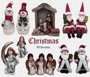 可爱PS圣诞节摆件笔刷