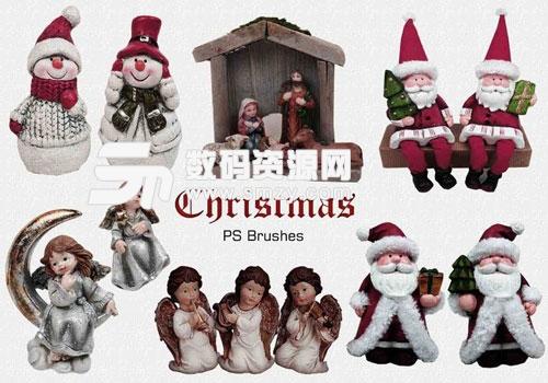 可爱PS圣诞节摆件笔刷下载