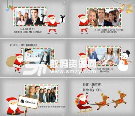 圣诞节贺卡角色动画AE源文件下载