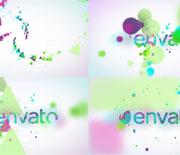 彩色粒子LOGO展示AE工程文件