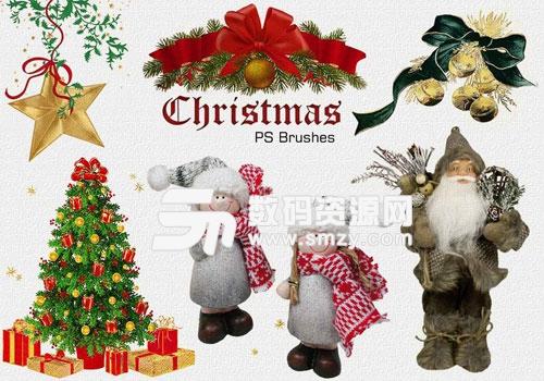 快乐的圣诞节PS笔刷下载