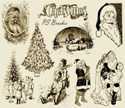 PS怀旧圣诞节笔刷