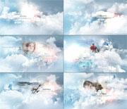 梦幻云朵里的照片AE模板