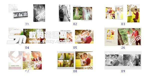 """全套""""婚纱照设计模板 相伴到老""""缩略图"""