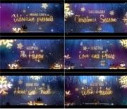 漂亮的粒子礼花圣诞节文字动画开场AE模板