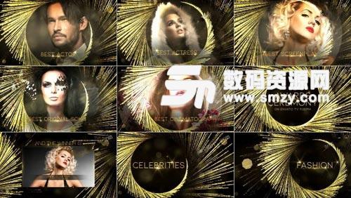 时尚酷炫的年会人物颁奖典礼整体AE包装模板下载