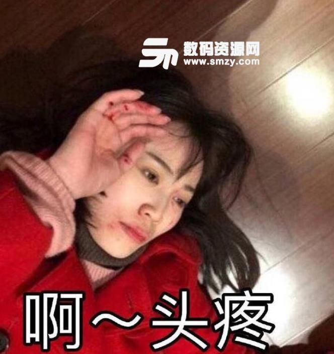 马蓉摆拍受伤恶搞表情包下载图片