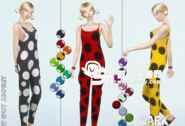 模拟人生4女性斑点连衣裤MOD