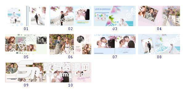 【婚纱照相册模板 可爱の方程式】-整套JPG预览图