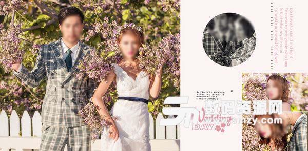 婚纱照相册模板 可爱の方程式 06