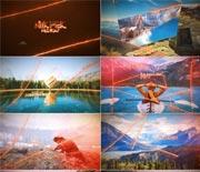 创意激光线条分割图片展示AE模板