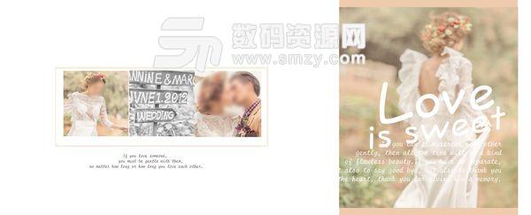 婚纱照相册模板 甜蜜的折磨 07