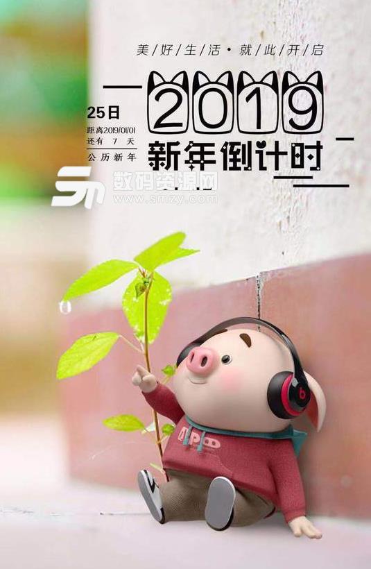 2019新年倒计时猪猪图片表情包高清版