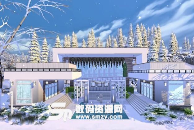 模拟人生4冬季白色住宅MOD