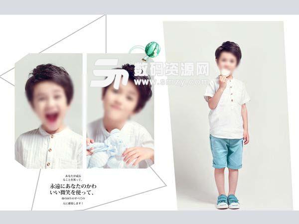 儿童摄影模板 微笑天使E 01