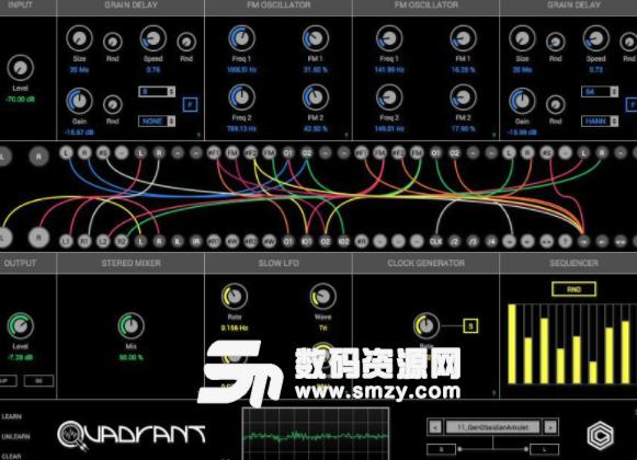 需要一个好用的音乐制作工具那就来下载GlitchMachines Quadrant VST免费版使用吧,这是一款很优秀的模块化声音发生器和效果处理器。内置了一百多个工厂补丁,能够无限激发用户的灵感,创作出不一样的声音,常用于实验声音设计和电音制作!需要的就来下载GlitchMachines Quadrant VST免费版使用吧!