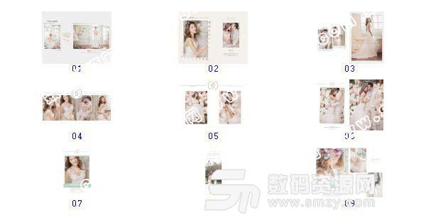 【婚纱设计模板 克拉恋人A】-整套JPG预览图