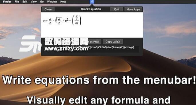 Quick Equation Mac版