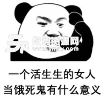 抖音毛毛姐吃火锅熊猫头表情包下载图片