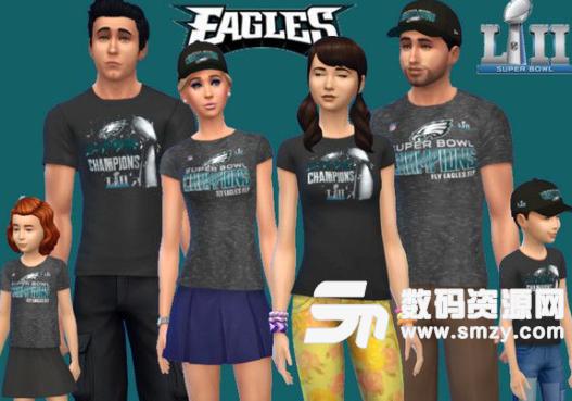 模拟人生4超级碗第七届冠军费城老鹰队装备MOD
