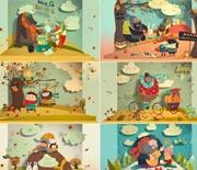 可爱富有童趣的立体折纸儿童故事书AE源文件