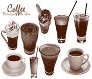 photoshop高分辨率咖啡杯笔刷
