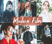 免费现代电影效果PS人像照片调色动作