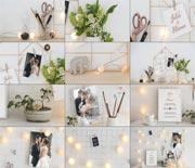 小清新婚礼订婚邀请函周年实拍视频AE模板