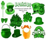 圣帕特里克节爱尔兰国庆节PS笔刷